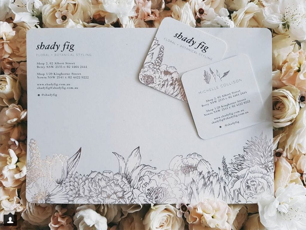 With Compliments and Business Card Design for Shady Fig